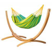 Sonrisa Lime - Amaca classica singola con supporto in larice FSC™ certificato