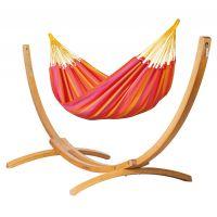 Sonrisa Mandarine - Amaca classica singola con supporto in larice FSC™ certificato