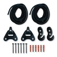 Universal Rope Black - multifunzione Fissaggio per amache