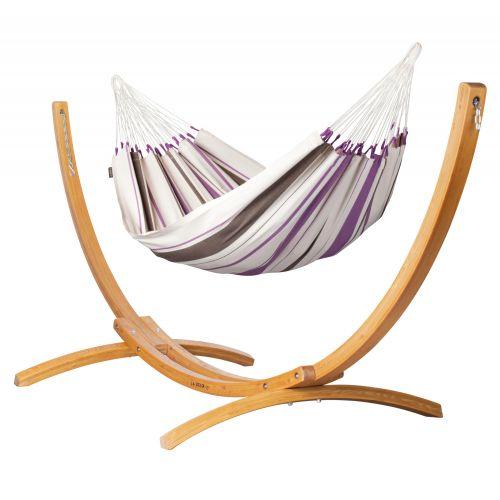 Caribeña Purple - Amaca classica singola con supporto in larice FSC™ certificato