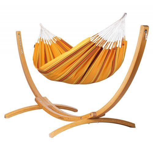 Currambera Apricot - Amaca classica doppia con supporto in larice FSC™ certificato