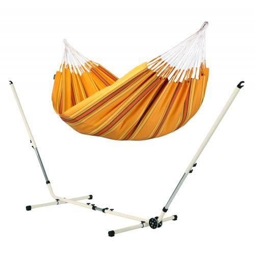 Currambera Apricot - Amaca classica doppia con supporto in acciaio verniciato a polvere