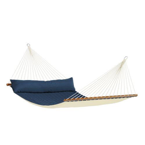 Alabama Navy Blue - Amaca a bastone kingsize imbottita